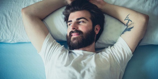 Portrait of handsome bearded man in the