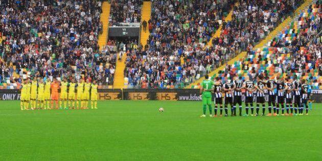 Carlo Azeglio Ciampi, fischi durante il minuto di silenzio prima di Udinese Chievo. La procura