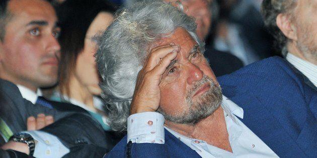 Beppe Grillo durante la