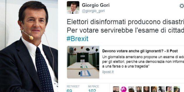 Brexit, il sindaco di Bergamo Giorgio Gori su twitter: