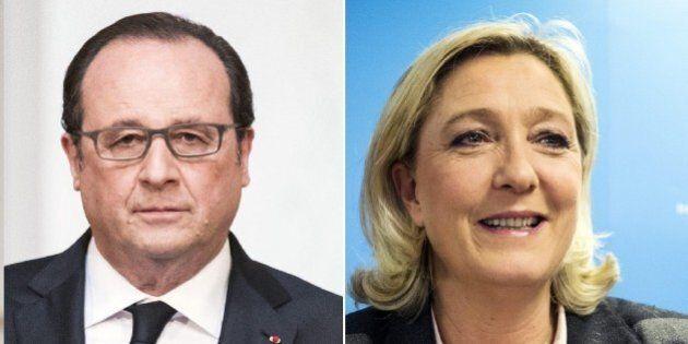 Francois Hollande gela Marine Le Pen: