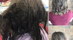 Il prima e il dopo di questa ragazza dal parrucchiere mostrano la crudezza della