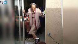 La bisnonna si scatena sulle note di Bruno Mars: a 100 anni è lei l'idolo di