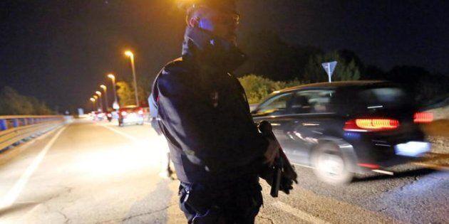 Un posto di blocco dei carabinieri tra Molinella e