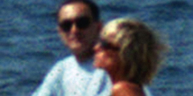 A couple identified as Diana Princess of Wales and Egyptian businessman Dodi Al Fayed cruise off the...