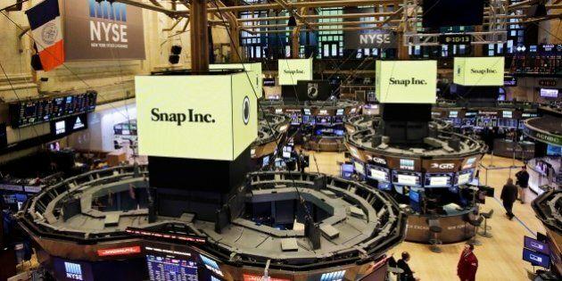 Esordio boom di Snapchat in Borsa. Spiegel e Murphy suonano la campanella a Wall Street. Ipo da 24 miliardi...