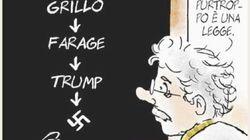 Il Fatto contro l'Unità per una vignetta: