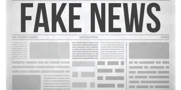 Fake news newspaper concept isolated on white. EPS 10 file. Transparency effects used on highlight