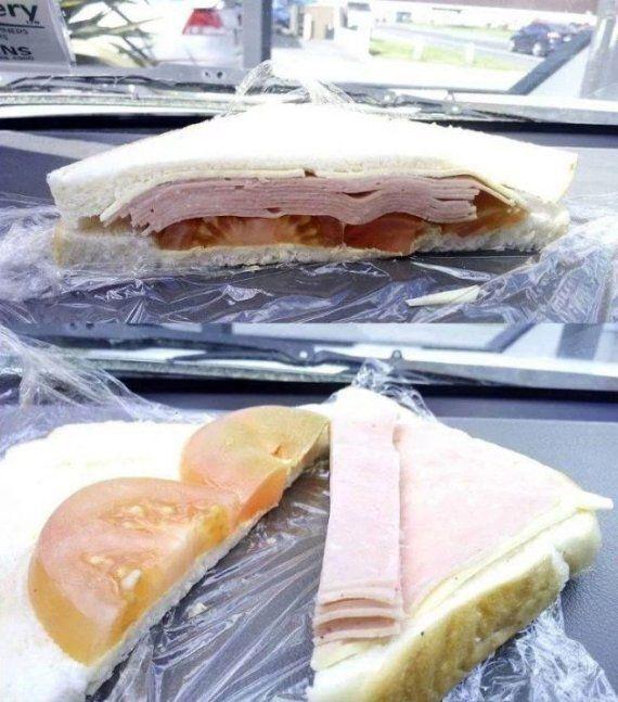 Il contenuto di questo panino sembra normale, ma la realtà è