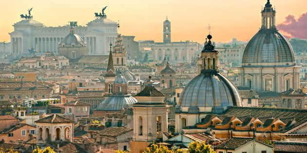 View of Rome from Castel Sant'Angelo,