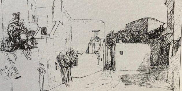 Piazza Le Boffe (matita, anni