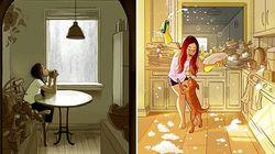 Queste vignette illustrano alla perfezione la felicità di vivere da