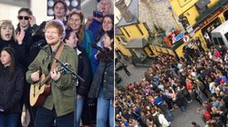 Ed Sheeran stava registrando un video in un pub irlandese. I fan invadono il