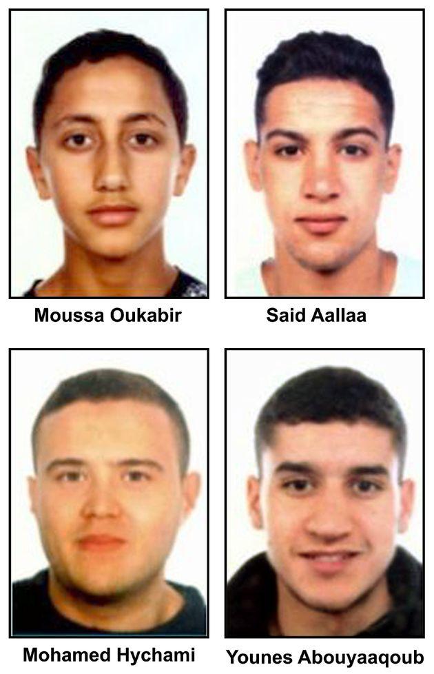 GRA360 MADRID,18/8/2018.- De arriba a abajo y de izquierda a derecha: Moussa Oukabir,Said Aallaa,Mohamed...