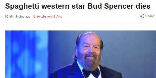 La morte di Bud Spencer sui giornali stranieri: