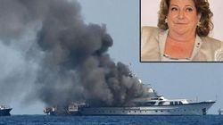 Incendio sullo yacht di Diana Bracco al largo di Nizza: in salvo l'imprenditrice e i suoi