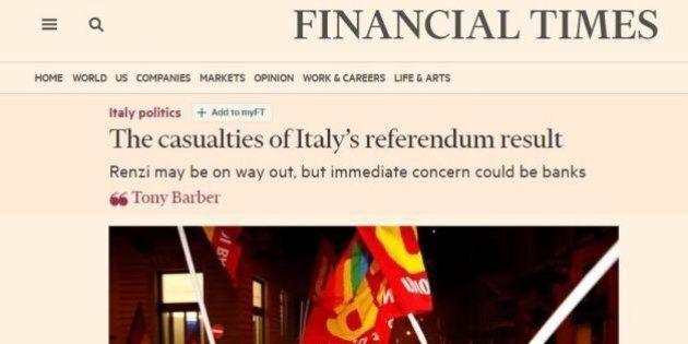 Referendum, i timori dei quotidiani stranieri dopo il No. Ft:
