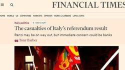 I timori dei quotidiani stranieri. Ft: