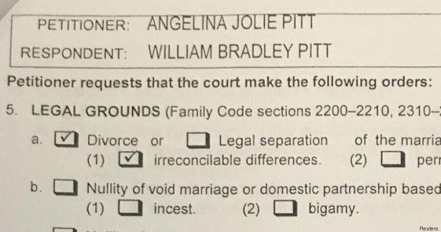 I documenti del divorzio di Angelina Jolie e Brad Pitt. La spunta su