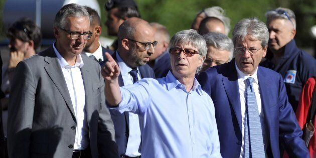 Il presidente del Consiglio Paolo Gentiloni con il Commissario straordinario di Governo alla Ricostruzione...