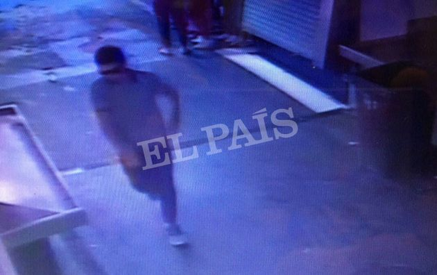 In this watermarked frame grab from CCTV released by the Spanish newspaper El Pais on Monday Aug. 21,...