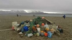 Questa è una spiaggia che dovrebbe essere incontaminata. E per l'80% è ricoperta da
