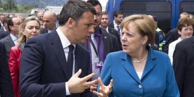 Angela Merkel gela Matteo Renzi: