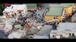 Terremoto a Ischia, le immagini riprese dall'alto delle case