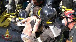 L'emozionante momento in cui i pompieri hanno salvato Mattias, dopo 14 ore sotto le