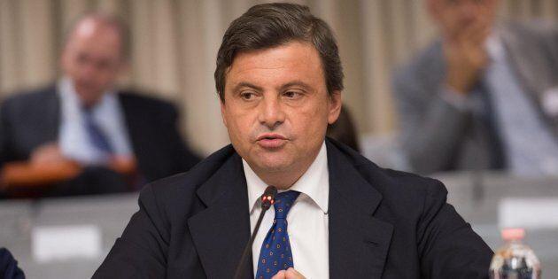 Il ministro dello Sviluppo economico Carlo Calenda durante la dodicesima Conferenza degli Ambasciatori...