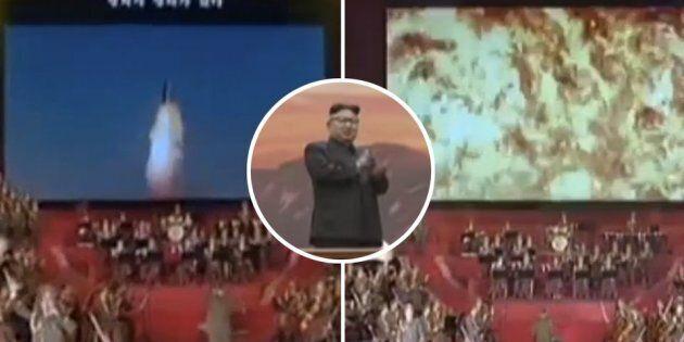 Il video trasmesso da Kim Jong Un per esaltare il suo esercito: un missile che distrugge gli Usa e brucia...