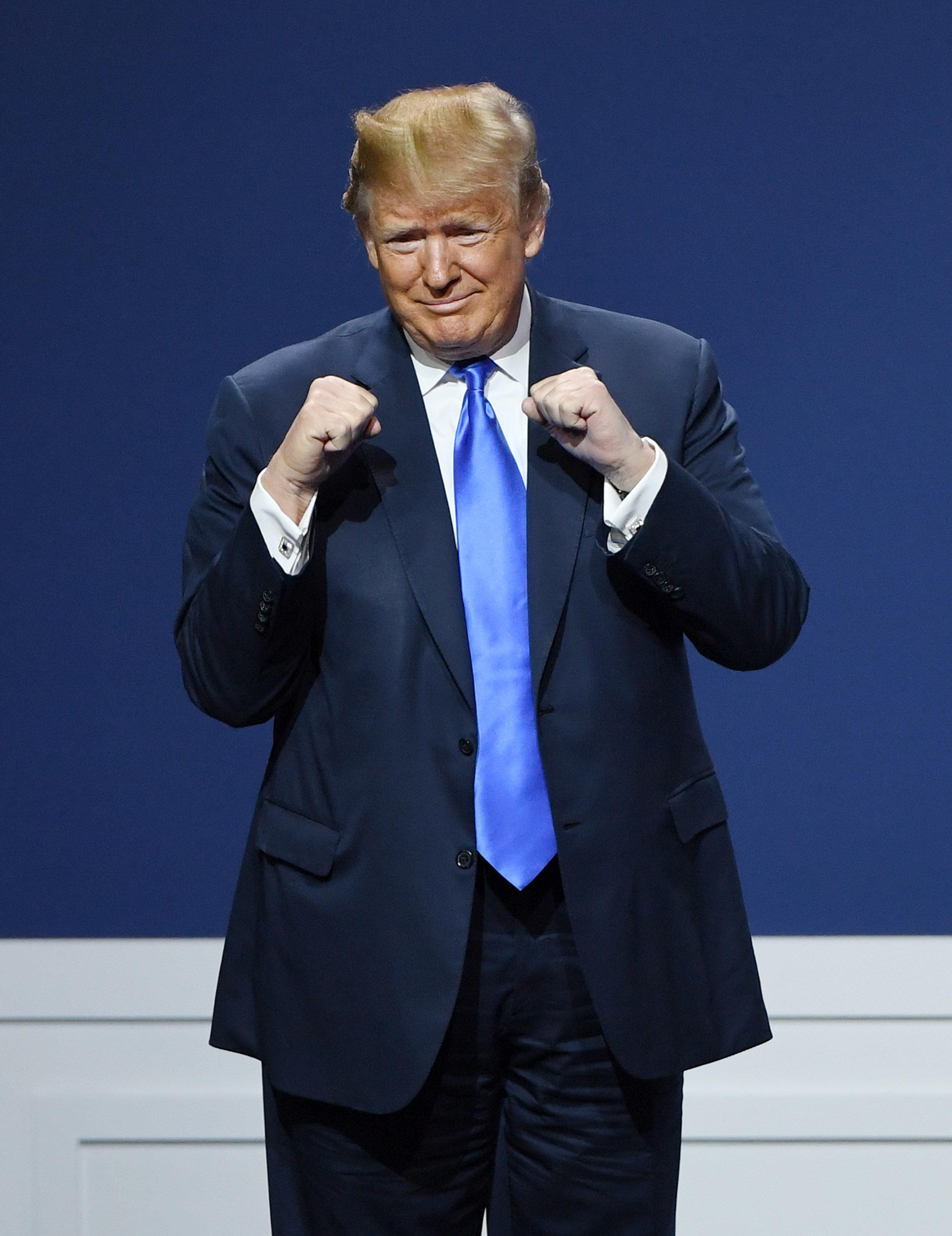 Le message (presque) sympa de Trump pour l'entrée en campagne de