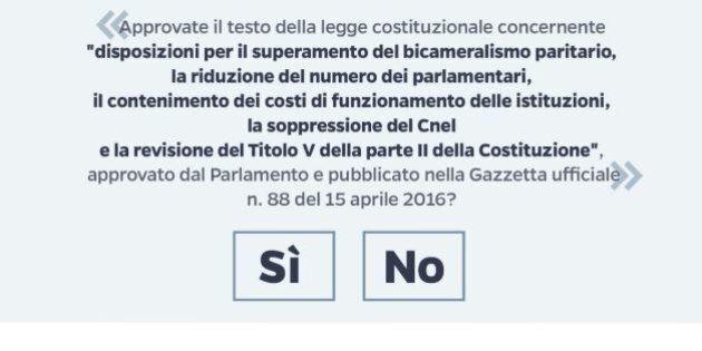 Referendum costituzionale, polemiche sulla scheda. Brunetta: