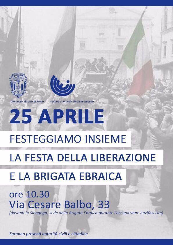 25 Aprile, a Milano insieme all'Anpi sfila la Brigata Ebraica e a Roma