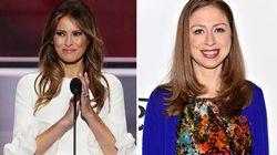Melania ringrazia Chelsea Clinton pubblicamente e dimostra di essere una mamma come tutte le