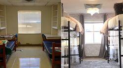 In 10 ore di lavoro, 2 matricole hanno trasformato la loro stanza del dormitorio. Le foto dimostrano che ne è valsa la