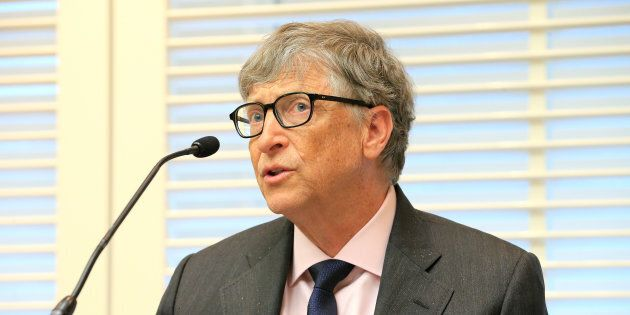 Bill Gates, co-founder of the Bill & Melinda Gates Foundation, speaks during a news conference on Neglected...