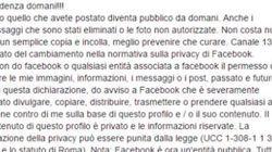 Ecco perché il copia-incolla che state facendo su Fb per tutelare la privacy è