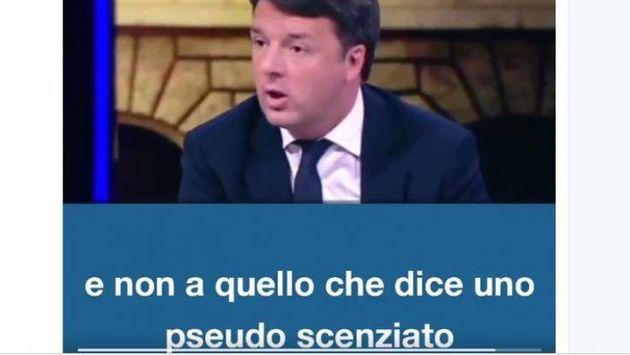 Il video di Matteo Renzi sulla questione Report-vaccini è pieno di