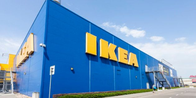 Warsaw, Poland - August 3, 2014: Building of the IKEA store in Warsaw. IKEA was founded in Sweden and...