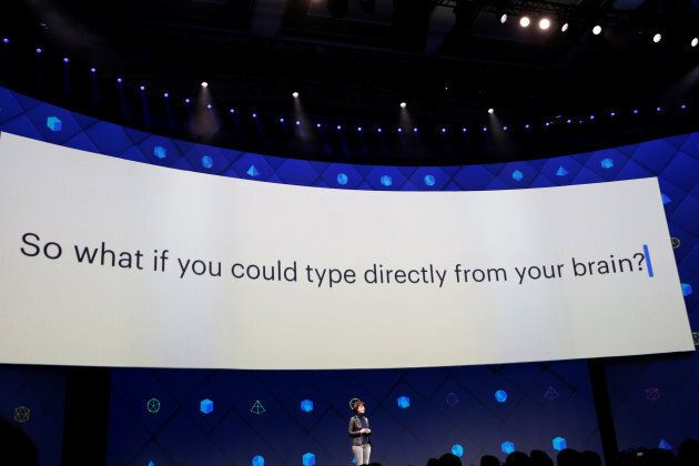 Regina Dugan, vice president of engineering of Building 8 at Facebook, speaks on stage during the second...