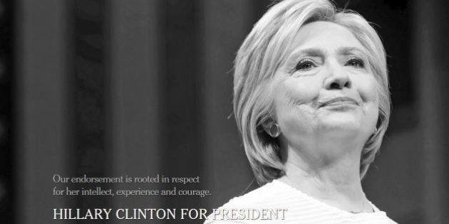 Il New York Times si schiera con Hillary Clinton: