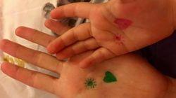 Con un disegno sulla mano una mamma ha aiutato la figlia a superare le sue