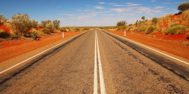 Straight highway in Australian