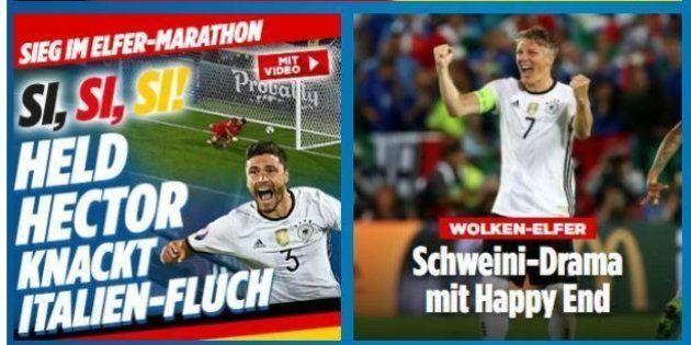 Italia Germania, la stampa tedesca celebra la vittoria: