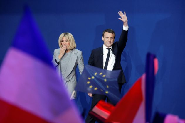 PARIS, FRANCE - APRIL 23: Founder and Leader of the political movement 'En Marche !' Emmanuel Macron,...
