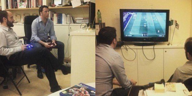 Matteo Renzi perde anche al torneo di Playstation con i figli: