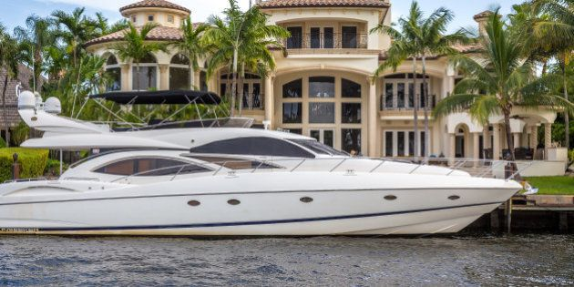 Fort Lauderdale, USA - August 30, 2014 : Luxury mansion in exclusive part of Fort Lauderdale known as...