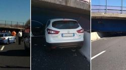 Crolla un ponte sull'A14 all'altezza di Ancona, due vittime. La società Autostrade: