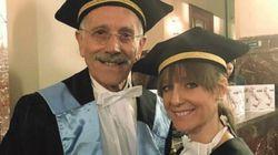 Padre e figlia si laureano lo stesso giorno: lui alla quarta laurea, lei alla